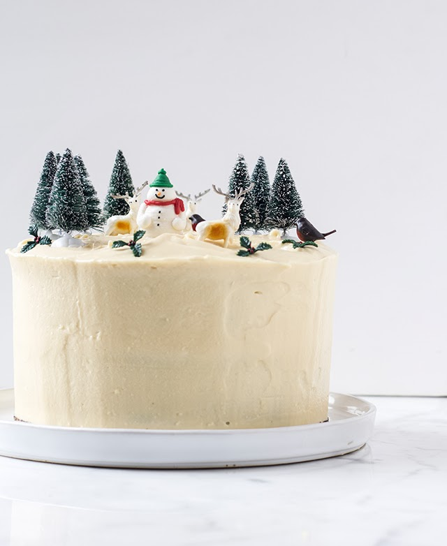 Pleasant Mbakes Gingerbread Birthday Christmas Cake With Mascarpone Frosting Funny Birthday Cards Online Fluifree Goldxyz