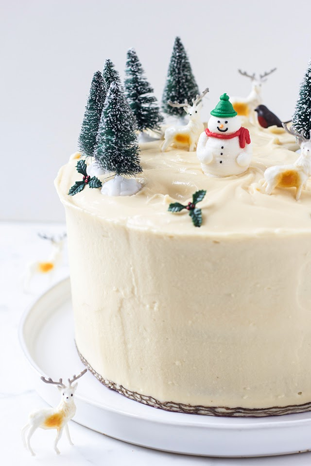 Miraculous Mbakes Gingerbread Birthday Christmas Cake With Mascarpone Frosting Funny Birthday Cards Online Hetedamsfinfo